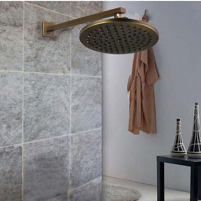 Ulgksd Bathroom Rain 8 Shower Head Antique Brass Round Shower Head