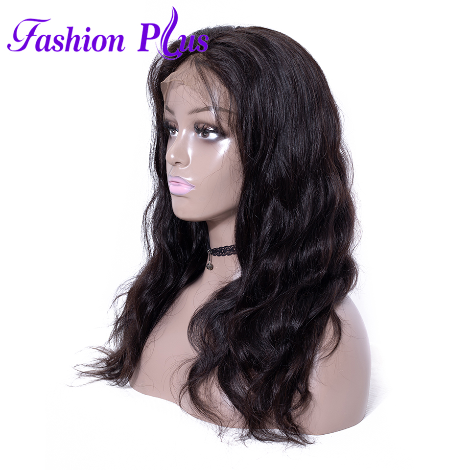 Body Wave Remy Brazilian Hair Full Lace Human Hair Wigs For Black Women 180% Density 10inch-26inch Full Lace Wig With Baby Hair
