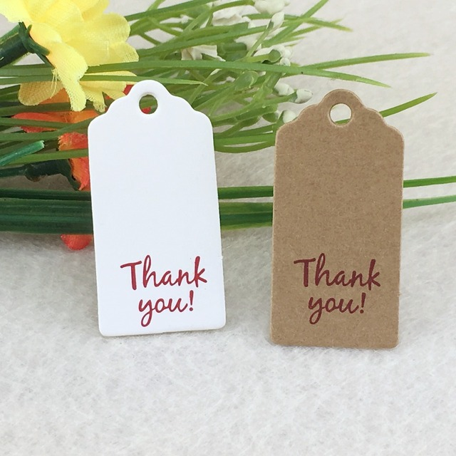 500pcs Kraft Thank You Tags Love Gifts Tag Wedding Paper Cards DIY Hang Christmas Gift Packing