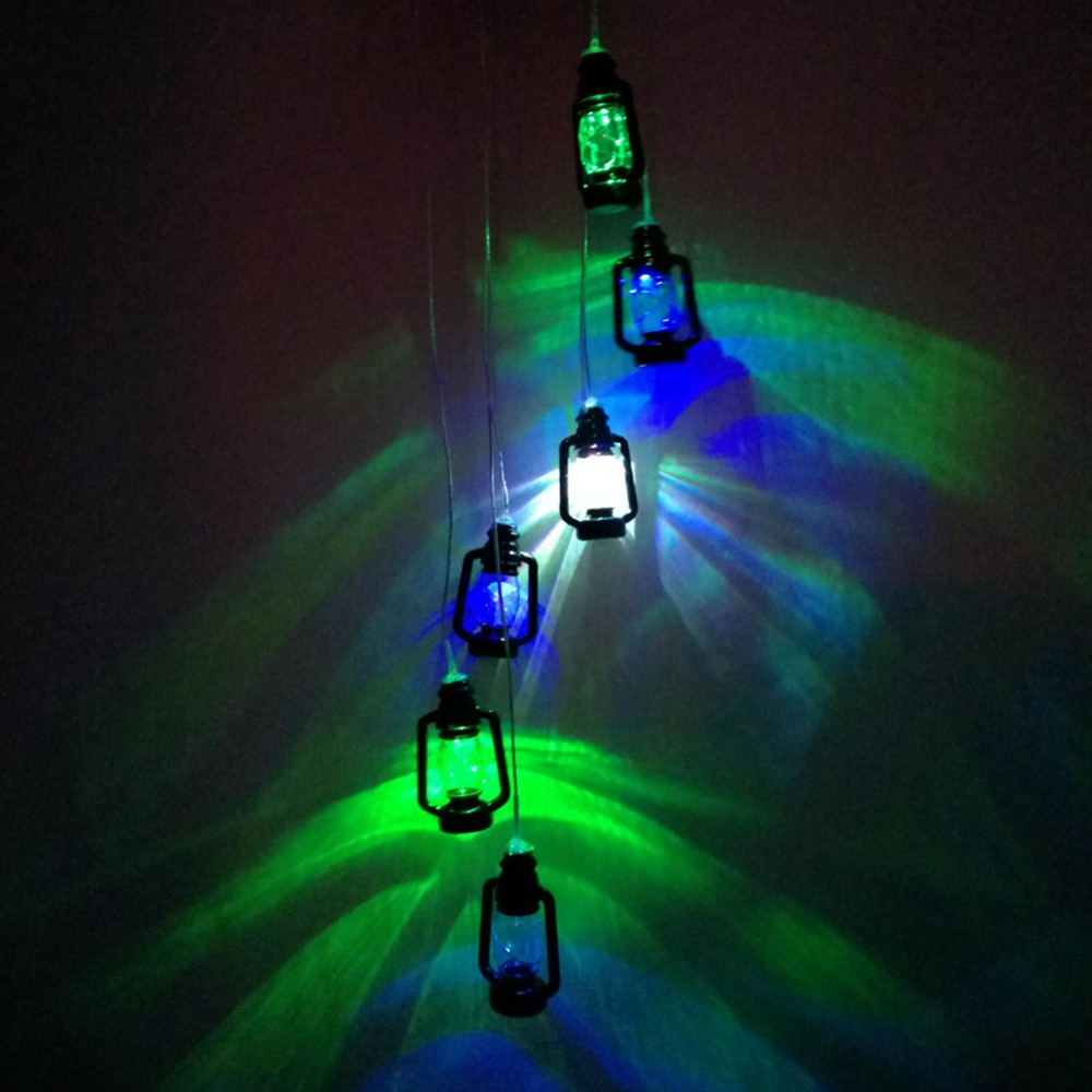 LumiParty Solar Powered Color Changing Wireless Wind Chimes LED Light Outdoor Garden Balcony Decor
