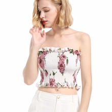 Summer new hot New Zealand fashion personality hollow demure slimming print sexy women wrapped chest