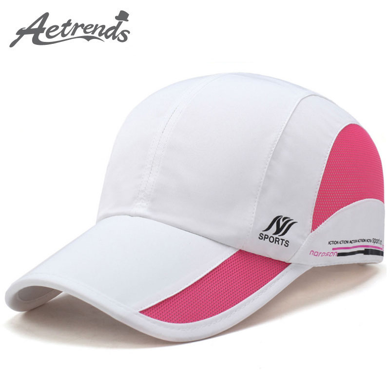 [AETRENDS] 2017 Summer Waterproof Mesh Cap Men's Baseball Cap Women Sun Hats Quick-Drying Breathable Caps Z-5077