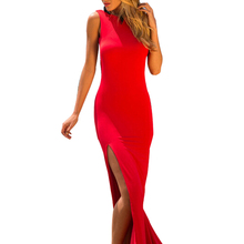 Summer dress 2016 hot sale red and white Women's Bodycon Bandage long Halter Dress sexy Midi Evening Party Prom Club Dresses