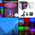 2016 Banco de la Energía del Color Multi Colorido de Luz Nocturna Aurora Maestro Ocean Wave Proyector LED Luminaria Decoración Kid Regalo de Los Niños