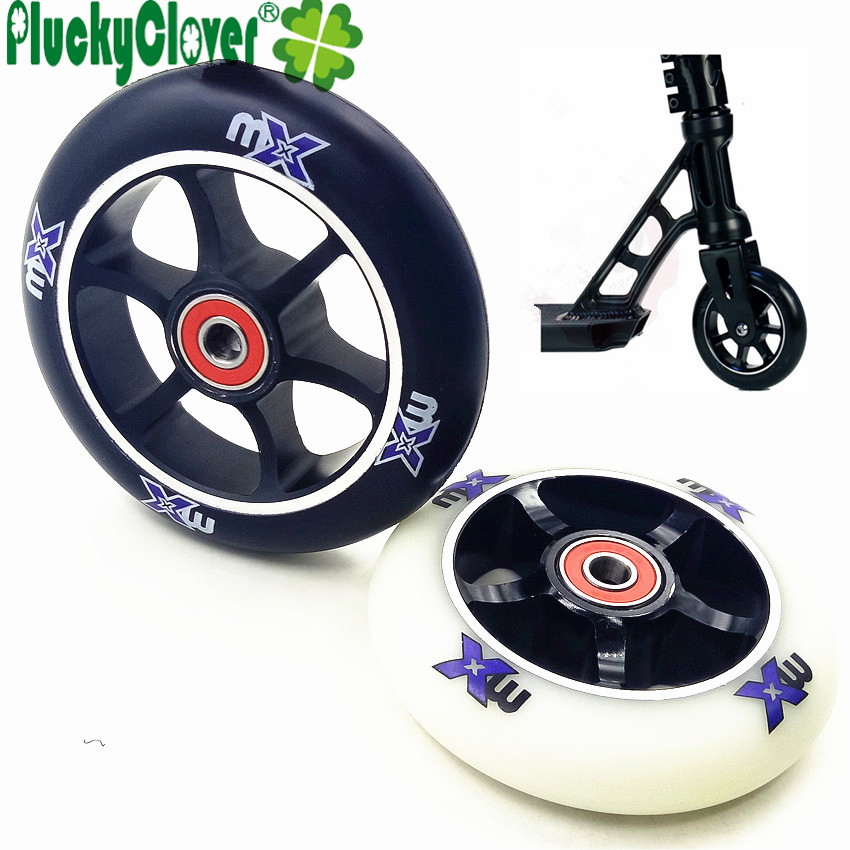 1pc 85A High Elastic Stunt Scooter Wheel 100mm Adult Kids Kick Scooter Roller Wheel PU With Aluminium Alloy Fast Bearing Spacer