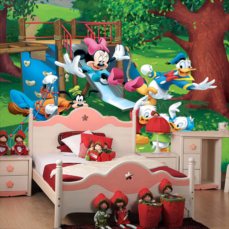 Wholesale 3d Wall Murals For Kids Children Living Room Donald Duck Tigger  3D Photo Mural Mickey Great Pictures