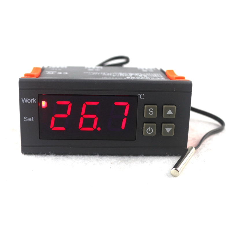 Mini Digital Temperature Controller Thermostat Regulator 10A 110V 220V 12V Thermostat LED Display NTC Sensor Delay Protect c 114m 220v 10a 30 300 degree digital temperature controller thermostat regulator with temperature sensor output