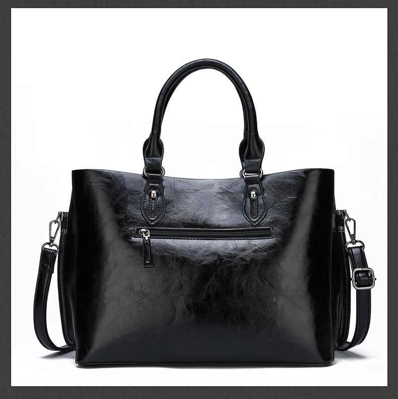 Bolso de cuero genuino bolso de mano borlas bolso de hombro moda mujer bolsos de cuero de gran capacidad bolsas de compras para mujeres 2019 C821