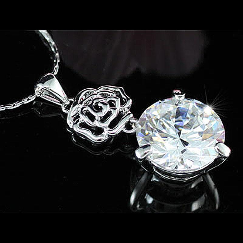 Peacock Star Rose 8 Carat CZ Pendant Necklace CSN192