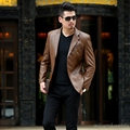 Men Slim Ultra Soft Leather Harley Jacket Winter Motorcycle Coat Patchwork Short Flight Jacket Blazer Korean Black Manteau Homme