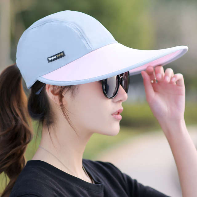 aac6cf23213 Online Shop SORRYNAM Summer Hat Women UV Protection Wide Brim Baseball Cap  Mesh Ladies Hat Tennis Fishing Beach Sun Hats Men Casquette Homme