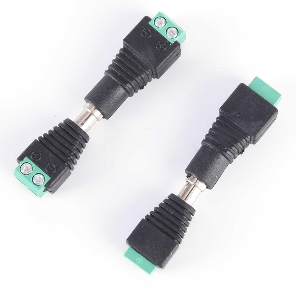 5pcs CCTV מצלמה 5.5mm X 2.1mm DC Power בכבלים נקבה תקע מחבר מתאם שקע 5.5*2.1mm כדי חיבור Led רצועת