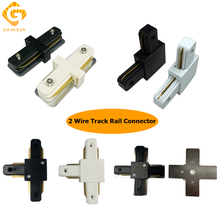 GO OCEAN Track Connector Connectors 2 Wire Track Rail Connector Corner Straight Tracks Lighitng Fixture Parts Connectors go ocean track rail connector track linker 3 wire i l t cross shape connectors led spotlight connector rail connectors