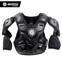 Scoyco AM07 Motocross Off Road Body Armor Motorcycle Armor Jacket Racing Protective Guard Gear with Arm Protectors