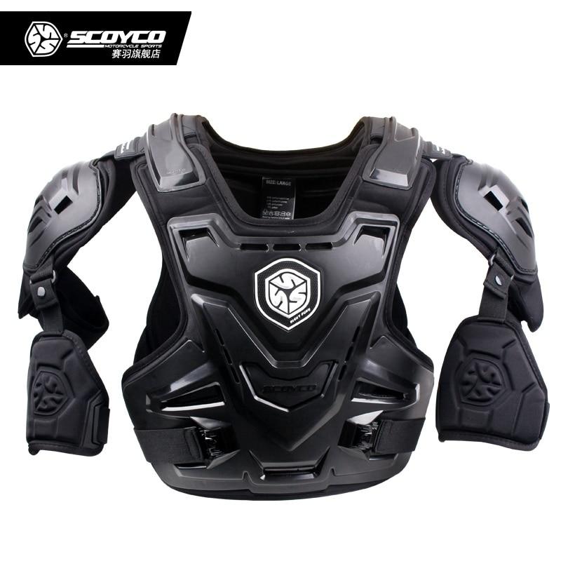 Scoyco AM07 Motocross Off Road Body Armor Motorcycle Armor Jacket Racing Protective Guard Gear with Arm Protectors