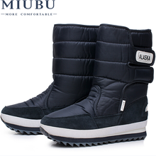 MIUBU New Winter Snow Boots Men OutDoor boots,Warm Plush Fur Boots Waterproof Boots Plus Size 40-47 Free Shipping hot sale women winter shoes waterproof thick bootleg plush warm fur snow boots parents high boots plus size 41 free shipping