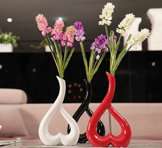 Home Accessories Decorative Heart Shaped Vase Wedding Gift Ceramic