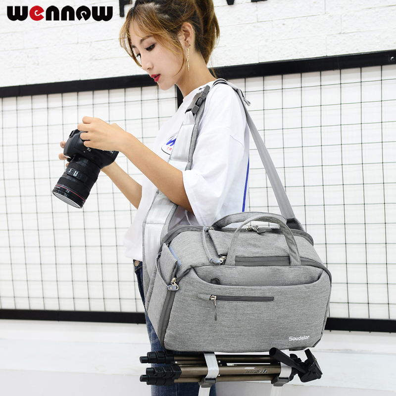 wennew Waterproof Camera Bag Fashion Polyester Professional Shoulder Sling Backpack Case For Canon Nikon DSLR Cameras Photo SLR waterproof digital dslr camera bag multifunctional photo camera backpack small slr video bag for the camera nikon canon