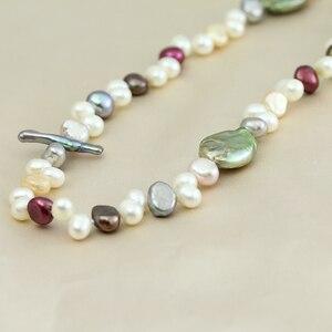 Image 3 - Perła biżuteria, długa prawdziwa naturalna perła słodkowodna naszyjnik ślub kobiety, matka perła naszyjnik 190cm 200cm dziewczyna gify