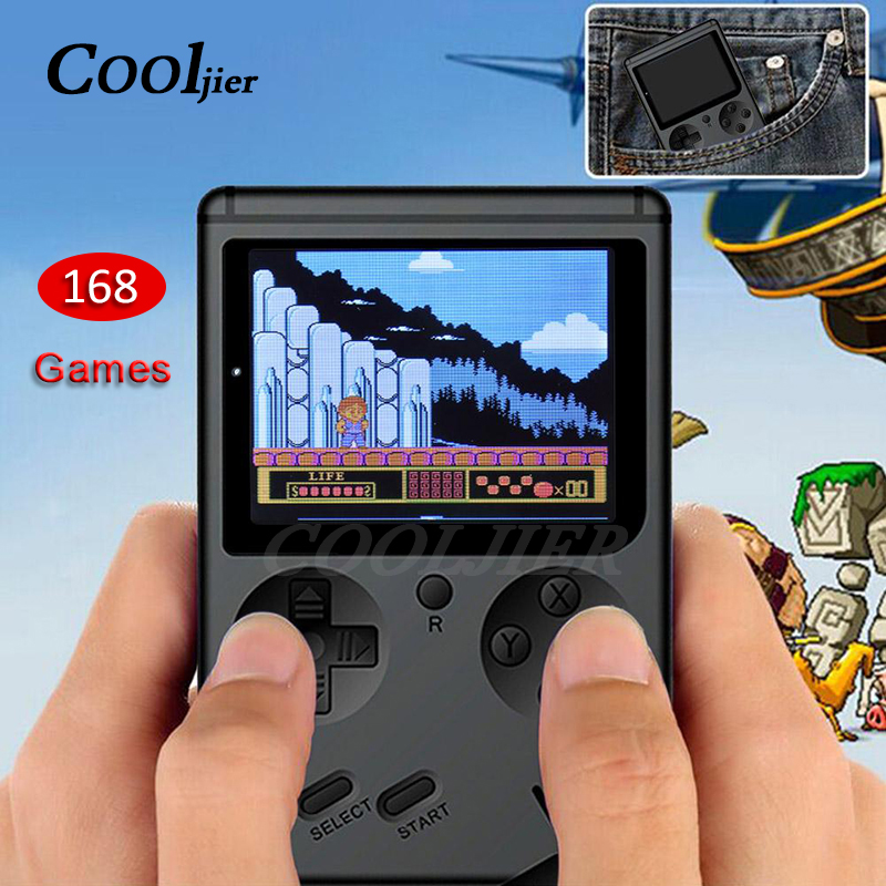 COOLJIER Video Game Console 8 Bit Retro Pocket Handheld Game Player Built-in 168 Classic Games Child Nostalgic Game Player
