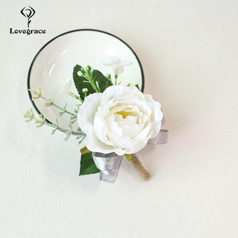 white Pink roses wedding  wrist corsage bracelet bridesmaid Boutonniere flowers (90)