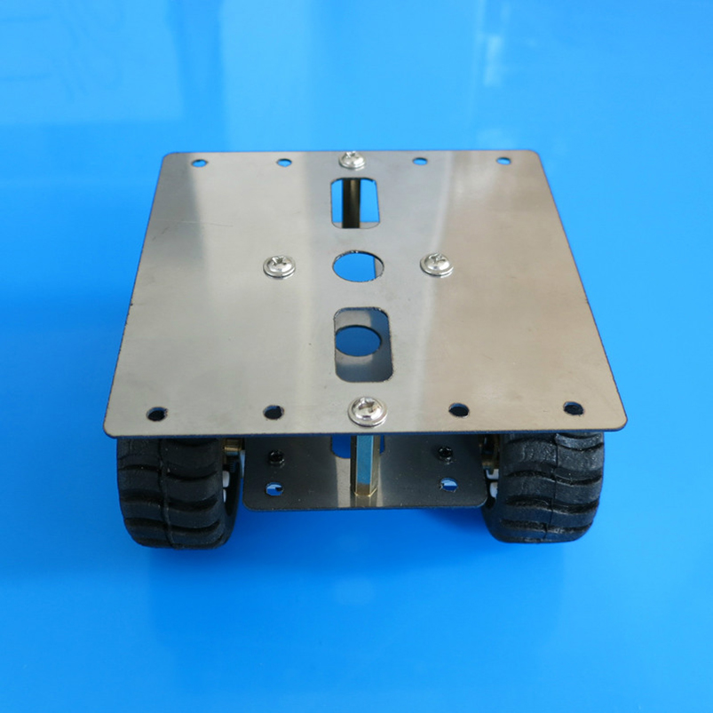 feichao N20 Robot Car Chassis Stainless Steel Metal Frame 4WD Platform 90*90mm Gear Motor DIY Intelligent Vehicle Tank Model diy toy car j473b model 7575 n20 gear motor intelligent model car diy assemble small car technology making free shipping russia