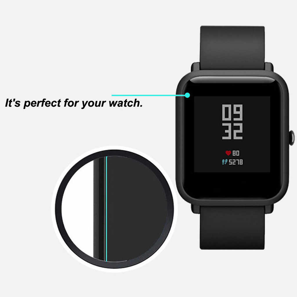 Protector de pantalla transparente impermeable Frostedfilm para Huami Amazfit Bip Youth Watch nuevo llegado #20191016