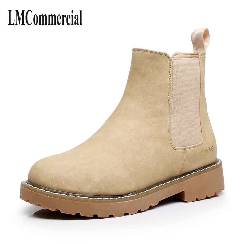 winter and new Korean version, short boots, women flat heel, heel sleeve feet, Martin boots, casual fashion, single boots, low b black women boots flat heel casual