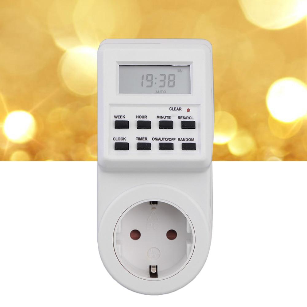 Plug-in Programmable Minuterie Interrupteur Prise avec Horloge Temps Aléatoire Fonction nouvelle arrivée D'été