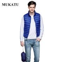 Ultra Light Duck Down Vest Men 90 White Duck Down Winter Sleeveless Jacket 2016 Brand Winter