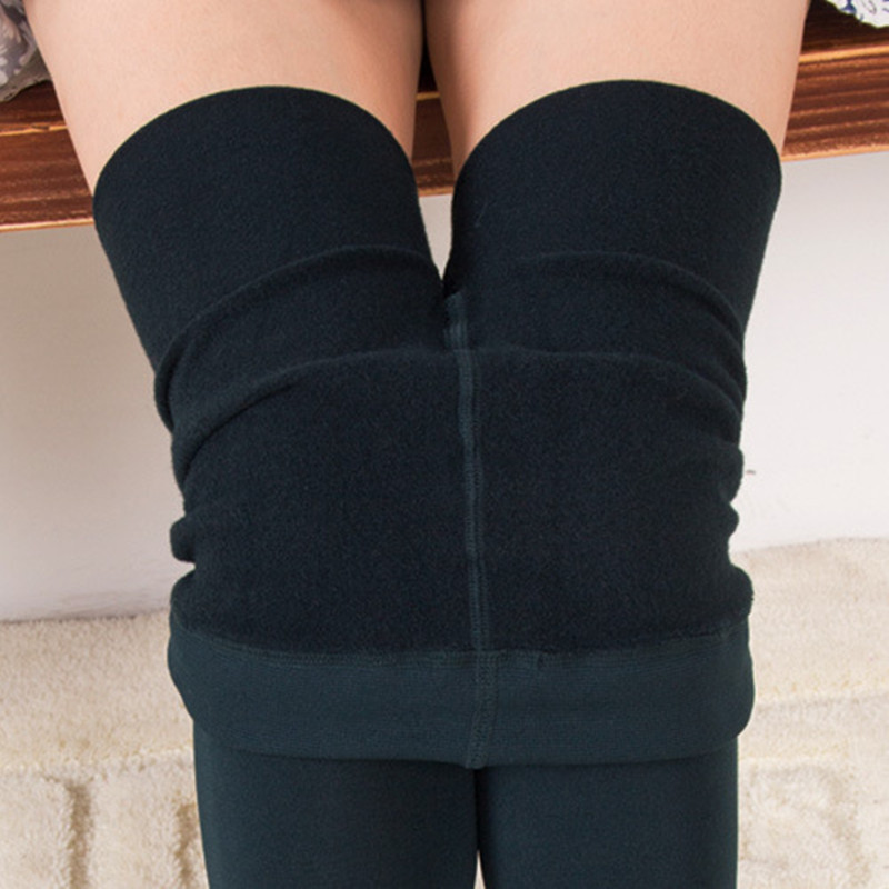 Autumn and winter new women pull cashmere pantyhose Wild solid color Slim warm women tights