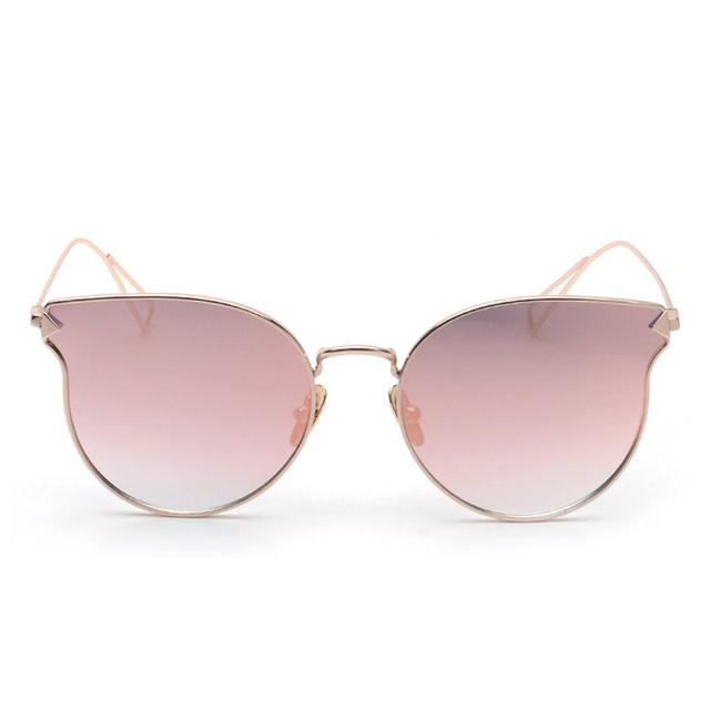 ROYAL GIRL Fashion Brand Designer Sunglasses Women Reflective Mirror Sun Glasses metal Frame Arrow Leg Glasses UV400 ss491