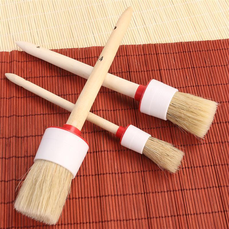 3pcs Bristle Cleaning Brush for Wheels / Interior / Air Vent / Emblems