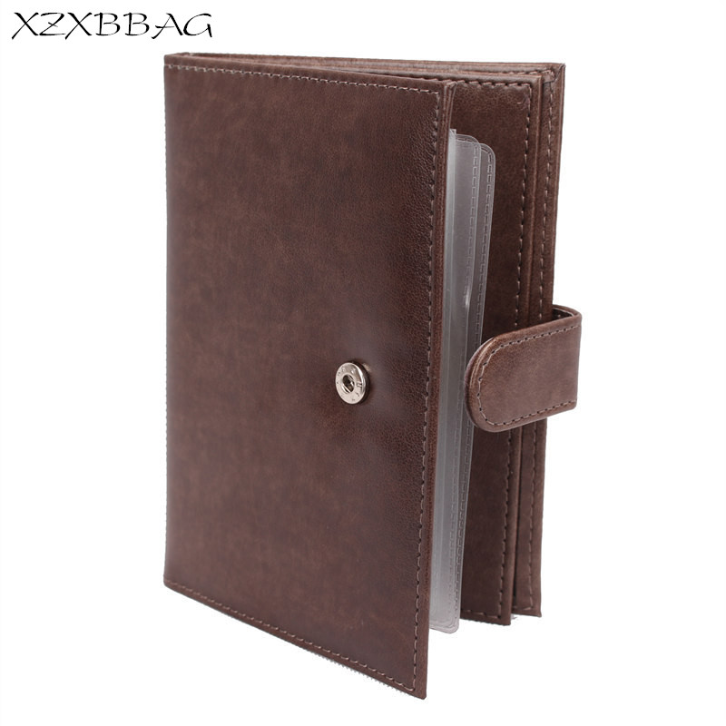 XZXBBAG 2 In 1 Russian Auto Driver License Bag Passport Card Case Sheath Car Driving Documents Protective Covers Passport Holder