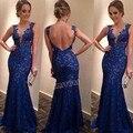 2016 Элегантных Женщин Кружева Шифоновое Длинное Платье V-образным Вырезом Формальные Платье SV012439