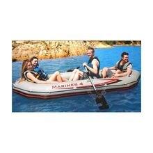 Intex МАРИНЕР супер 4 человек надувная лодка рыбацкая 328*145*48 см 137 см алюминий oards, ручной насос аксессуар A07001