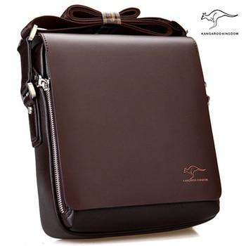 New Arrived Brand Kangaroo men's messenger bag Vintage leather shoulder bag Handsome crossbody bag Free Shipping Cross Body Bags