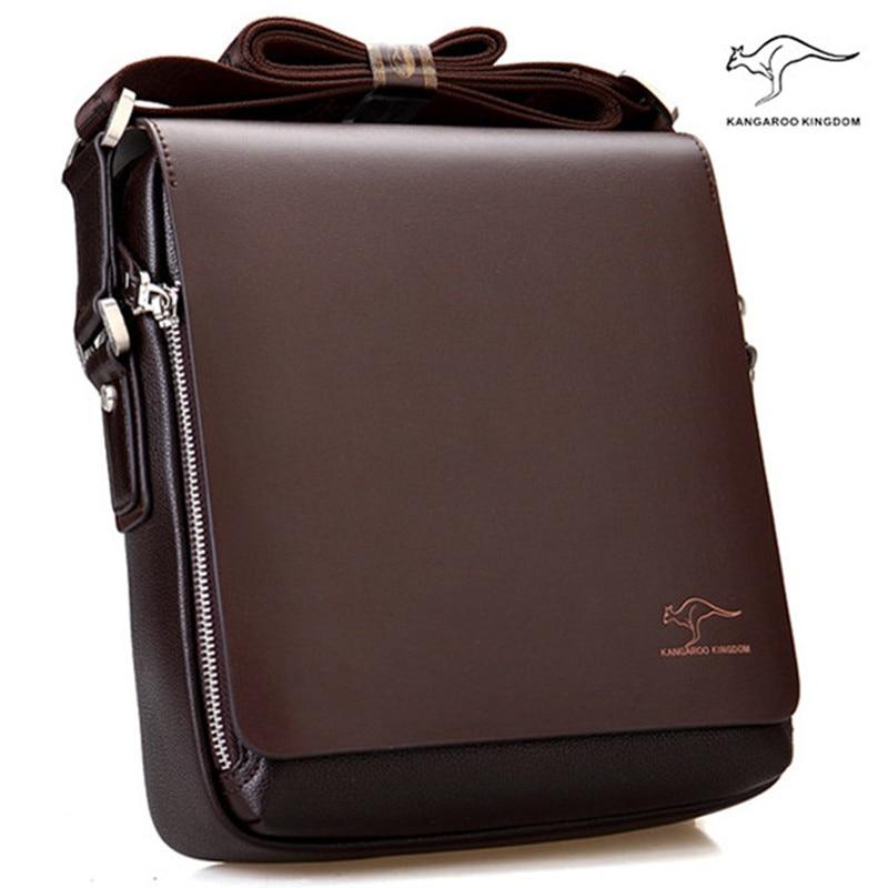 Nueva llegada de la marca de los hombres del canguro del bolso del mensajero del bolso del hombro del cuero del Vintage bolso de crossbody atractivo envío gratis