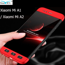 3-in-1 Plastic Hard 360 Full Protect Case for Xiaomi Mi A1 / Xiaomi Mi A2 Cover Anti-Shock Full PC Case Xiaomi Mi A1 / Mi A2 все цены