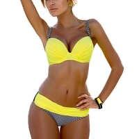 Push Up Bikini 2019 Sexy mujer traje de baño Biquini Bikini brasileño conjunto traje de baño Bandeau mujer ropa de playa traje de baño