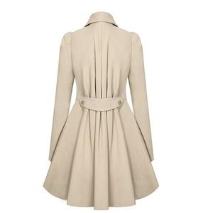 Image 4 - חורף תעלת מעיל מכירה לוהטת נשים מעיל קלאסי מותניים היה דק מעיל רוח מסיגות נשי ארוך שרוול מעיל