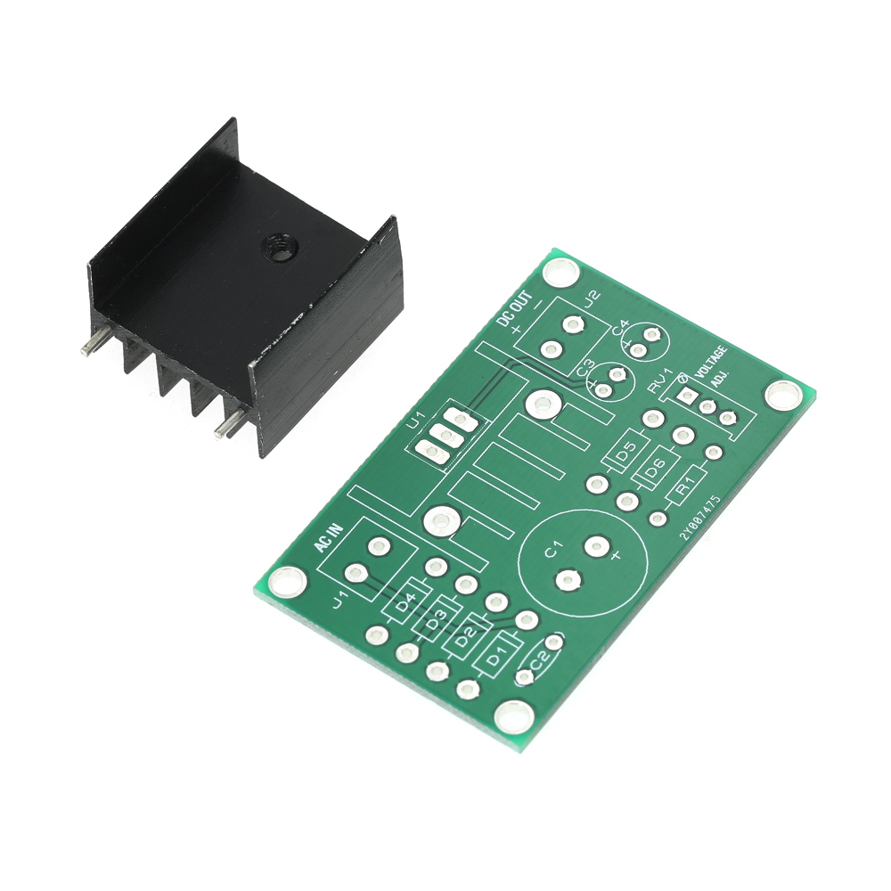 New LM317 1.25V-22V Continuously Adjustable Regulated Voltage Power Supply Step-down Module Input AC18V DIY Kit