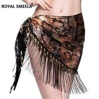 2017 New Design Embroidery Bellydance Hip Scarf Tassels Hip Scarves Tribal Belly Dance Fringe Shawl Belt