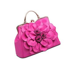 New Women Ladies PU Leather Rose Flower Pattern Handbag Shoulder Satchel Bag Tote Purse Messenger Bag for Wedding Party Festival red wedding pu leather fashion new african shoes and bag set for party italian shoes with matching bag new design ladies bag