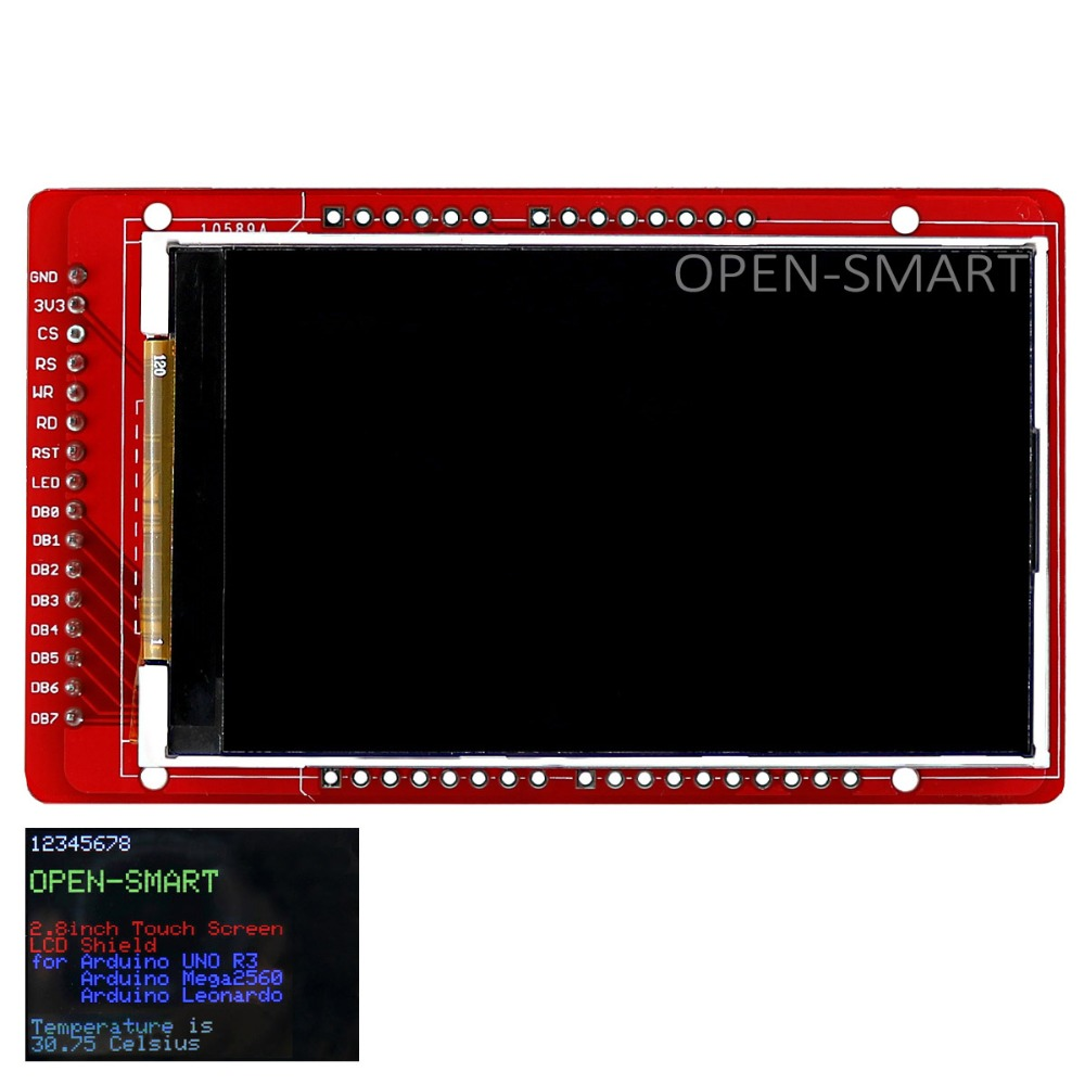 OPEN-SMART 3.0 inch 240 * 400 TFT LCD Display Breakout Board for Arduino UNO R3 / Mega2560 / Leonardo