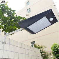 IP65 водонепроницаемый 81 Солнечный свет 2835 SMD белый солнечной энергии открытый сад свет PIR датчик движения Путь Бра 3.7 В