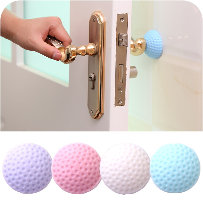 1PCS Self Adhesive Silicone Wall Protectors Door Handle Bumpers Buffer Guard Stoppers Silencer Crash Pad Doorknob Lock&6001