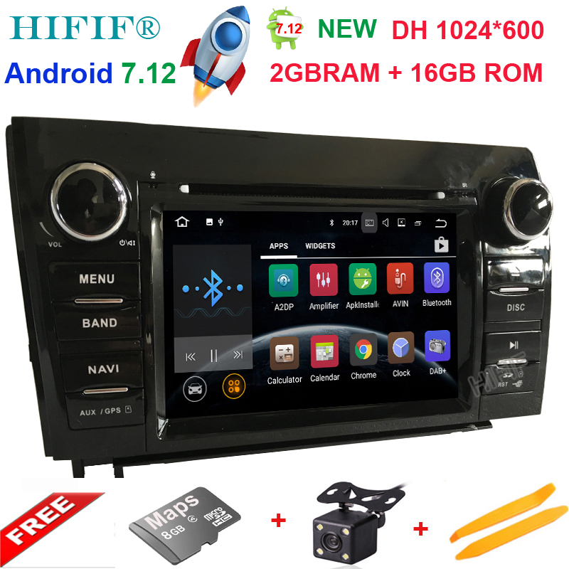 7'' 2GB 16GB Android 7.12 Quad Core OR 7.12 quad core Car DVD Player Radio Stereo GPS Navigation For Toyota Sequoia Tundra 4G