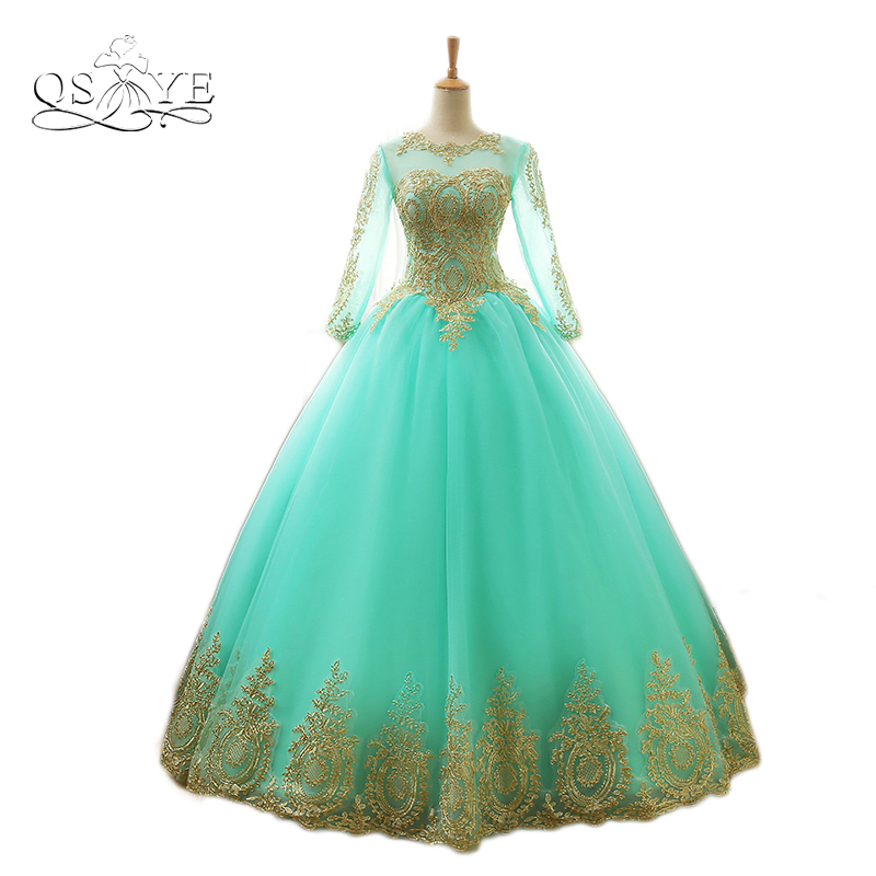 aliexpress   buy 2017 new arrival mint green ball gown