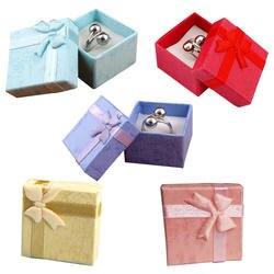 48 шт. стильная шкатулка для украшений, случайный мульти кольца цвета, серьги, кулон коробка 4*4*3 Новый год Рождество/Свадебная вечеринка
